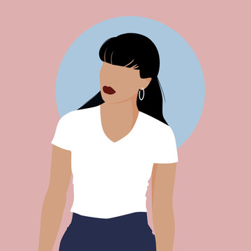 Pointed Woman Illustration