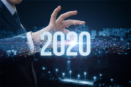 The concept of a new 2020 business year.