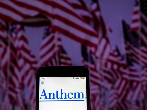 Kiev, Ukraine, December 10, 2018, illustrative editorial. Anthem Insurance company logo seen displayed on smart phone.
