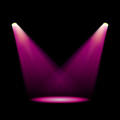 Obraz Glowing magenta spotlights - fototapety do salonu