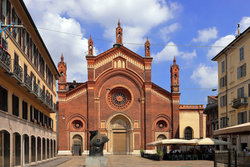santa maria del carmine church in milan city in italy