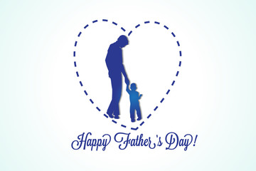Happy fathers day greetings card vector image design