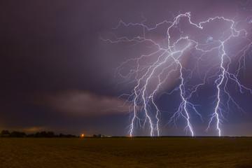 Foto op Plexiglas Zalm Central Valley Lightning