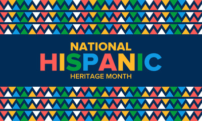 National Hispanic Heritage Month in September and October. Hispanic and Latino Americans culture. Celebrate annual in United States. Poster, card, banner and background. Vector illustration Fototapete