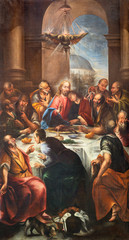 Wall Mural - LIMONE SUL GARDA, ITALY - MAY 9, 2015: The painting of Last Supper in church Chiesa Parrocchiale di S. Benedetto by unkonwn baroque artist.