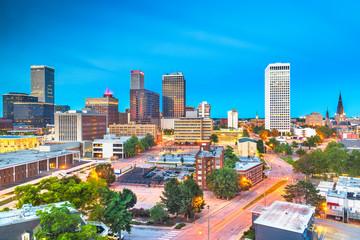 Tulsa, Oklahoma, USA downtown city skyline Fototapete
