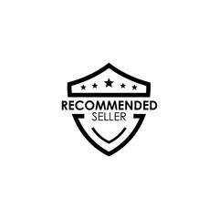 Trusted seller emblem shield logo design template