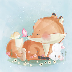 Little Fox and His Friends
