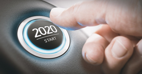 Year 2020 Start, Two Thousand and Twenty Concept.