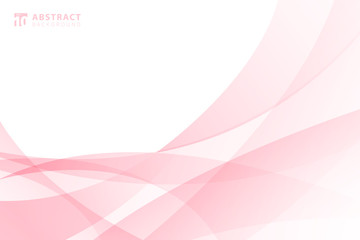 In de dag Abstract wave Abstract modern light pink wave element on white background with space for your text.