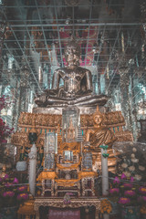 Wat Muang aerial view, biggest buddha statue in Thailand
