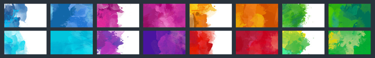 Big set of beauty vector colorful watercolor background for poster, brochure or flyer Wall mural