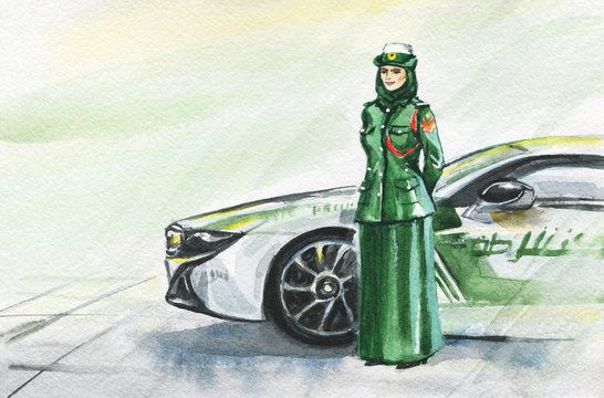 Arabian woman policeman