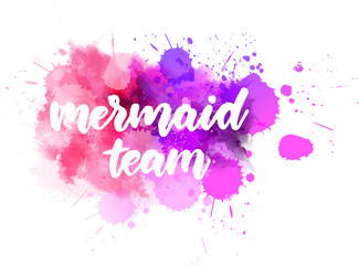 Mermaid team lettering