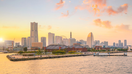 Fotomurales - Yokohama city skyline at sunset