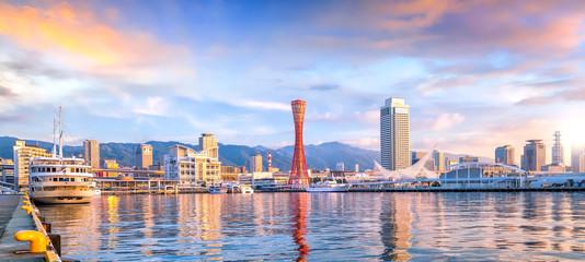 Skyline and Port of Kobe in Japan Fototapete