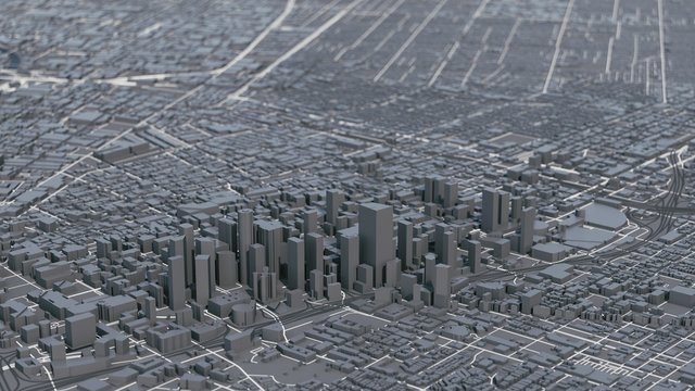 Los Angeles city map. Los Angeles 3d map