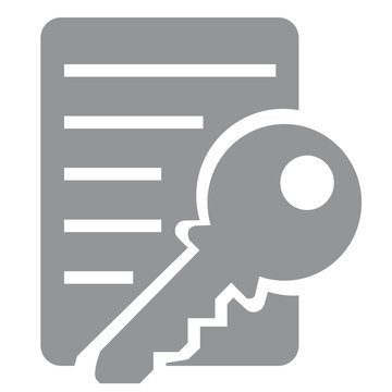 Information Security Icon Collection - key document. Vector icons.