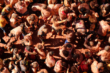 """La Tomatina"" food fight festival in Bunol"
