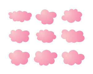 Cloud vector icon set