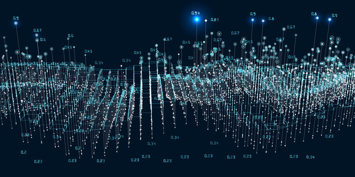 Abstract background big data visualization. Futuristic infographics design. Social network or business concept.