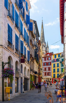 Cityscape of French town Bayonne