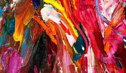 ็็็็็็Hand draw colorful oil painting abstract background with texture.
