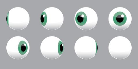 3D Eyeball Spinning Vector Illustration