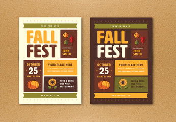 Fall Festival Flyer with Graphic Elements