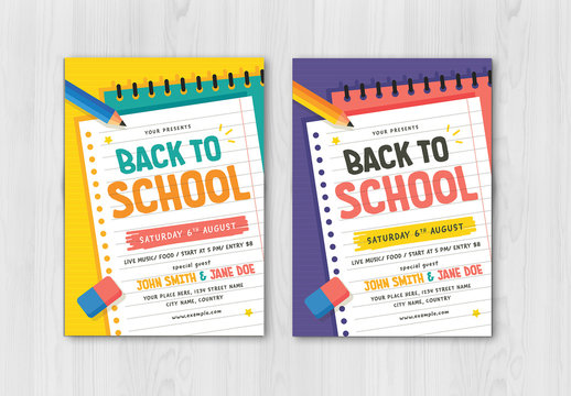 Back to School Graphic Flyer