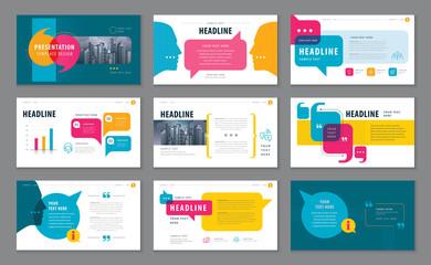 Fototapeta Abstract Presentation Templates, Infographic elements Template design set obraz