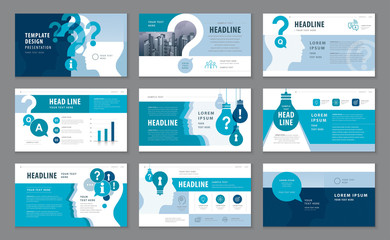 Abstract Presentation Templates, Infographic elements Template design set Fototapete