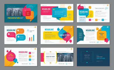 Abstract Presentation Templates, Infographic elements Template design set for Brochures Wall mural