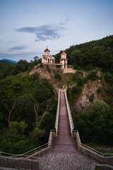 Small orthodox church on the side of the mountain in Prolom banja in southern Serbia
