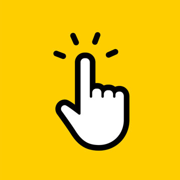 Hand clicking icon. Finger cursor vector.