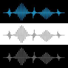 Sound Wave Vibration Signal Vector Illustration