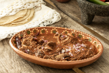 Wall Mural - Mexican food. Plate of birria.