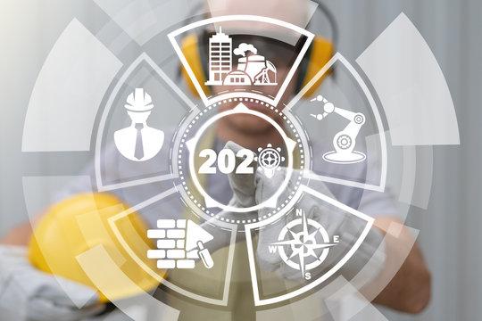 2020 industry yaer goals plans success construction concept.
