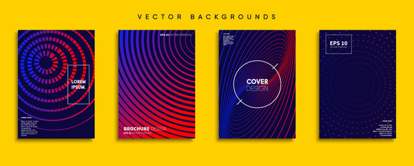 Minimal Vector cover designs. Future Poster template. Fototapete