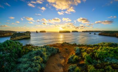 sunset at bay of islands, great ocean road, victory, australia 71 Fototapete