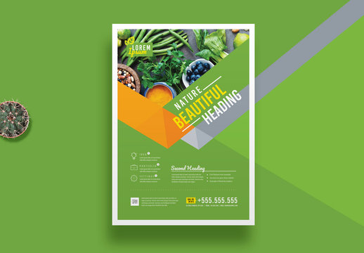 Green Corporate Flyer Layout