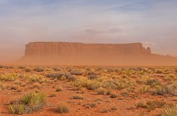 Dust Storm in the Desert