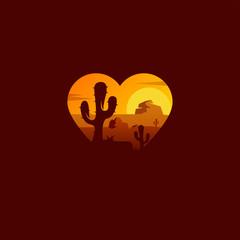 desert logo design vector illustration