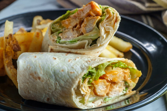 Buffalo Chicken Sandwich Wrap
