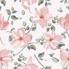 Botanical peony wedding pattern with nature elements. Hand-drawn flowers background template design.
