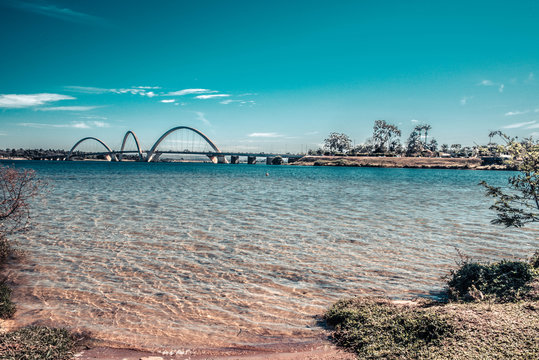 A beautiful view of JK Bridge in Brasilia, Brazil