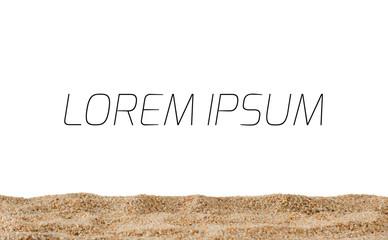 Sand slope isolated on white background