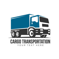 cargo transport truck  vector logo