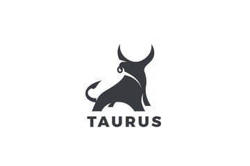 Bull Taurus Bison Buffalo Logo design vector template. Beef Meat Steak House Restaurant Logotype concept icon. Wall mural
