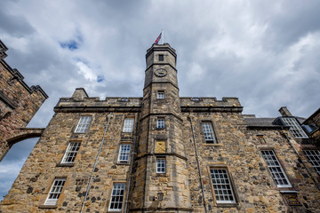 Interior buildings at Edinburgh Castle, Edinburgh, Scotland, UK